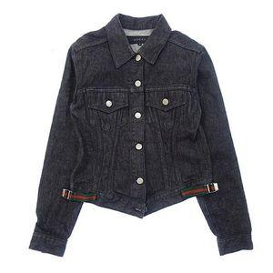 fd82d02db941 Authentic Gucci Black Denim Web Jacket Size 42
